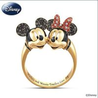 "Disney Mickey Mouse And Minnie Mouse ""Timeless Love"" ring ..."