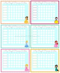 Printable Princess Chore Charts | Share Your Craft ...