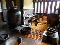 Inside the kitchen of an old Japanese Samurai House with ...