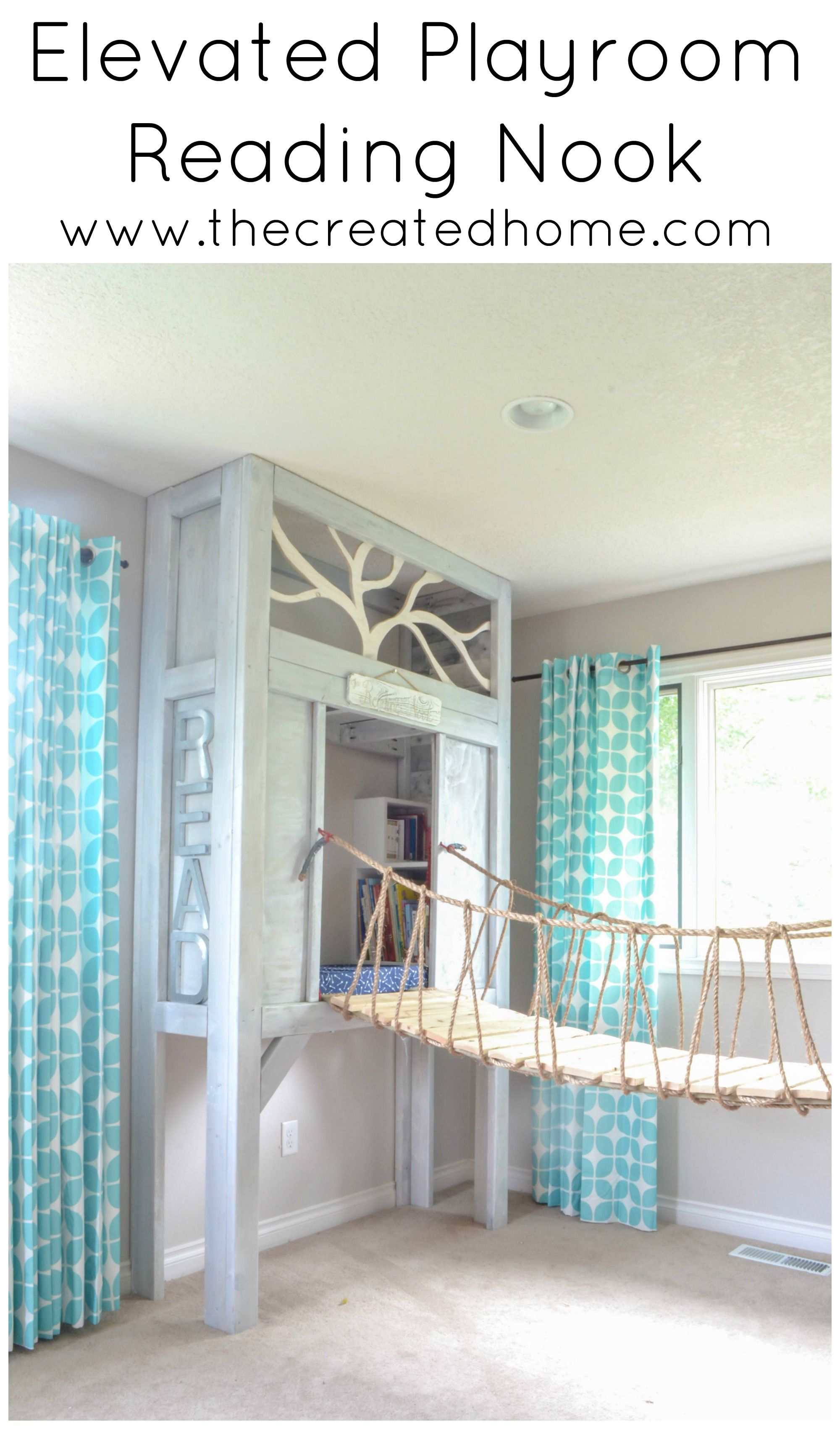 How to build an elevated reading nook  Remodelaholic Contributors  Pinterest  Reading nooks