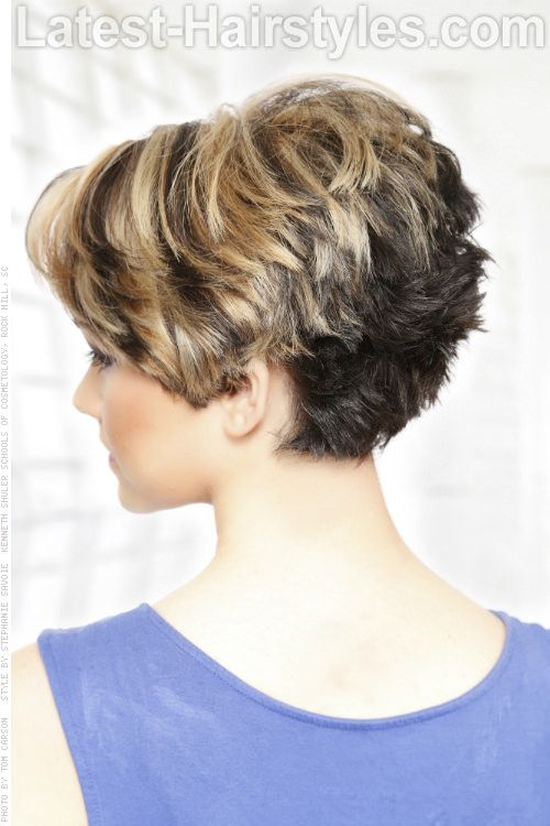 Short Hairstyle With Heavy Texture Back SINCE THERE IS NO CHOICE