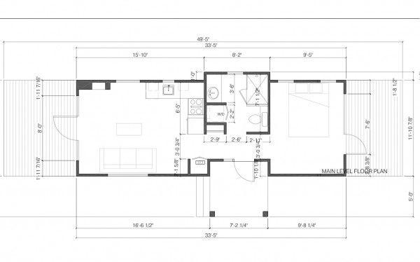 "Floorplan Of The ""Park Model"" Vacation Rental In Jackson"