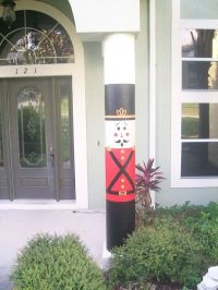 Christmas Decorative Outdoor Nutcracker Column Wrap ...