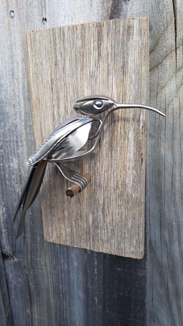 Bird Metal Art Made From Silverware