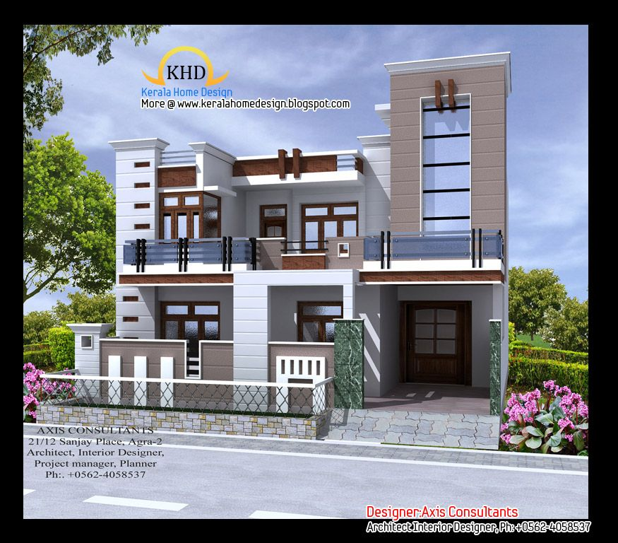 Front Elevation Indian House Designs Houses Pinterest Home
