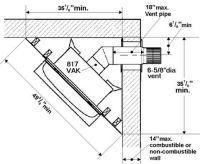 corner fireplace dimensions | Windsor Direct Vent Gas ...