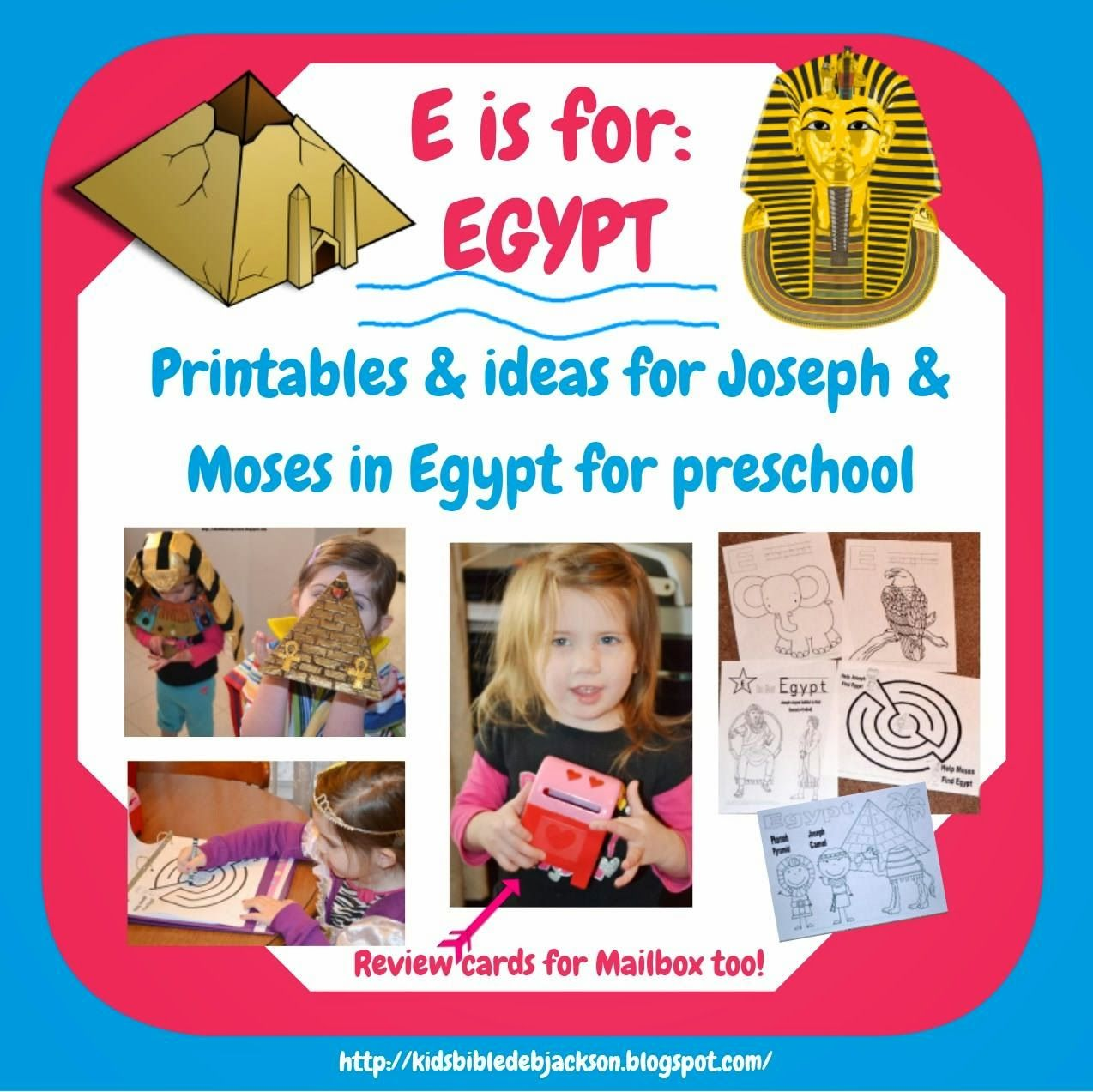 Preschool Alphabet E Is For Egypt
