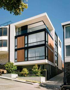 House also casa contemporanea fachada com elemento continuo formando um  rh pinterest