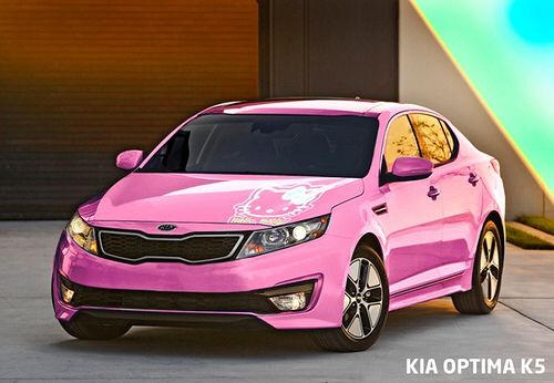 Look Its Hello Kitty A Beautiful Pink Kia Optima With