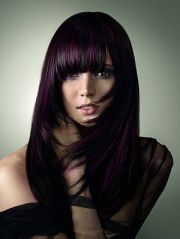 violet hair with highlights color