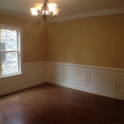 Picture Frame Moulding Below Chair Rail Posture Gumtree Dining Room With Shadow Boxing And Crown