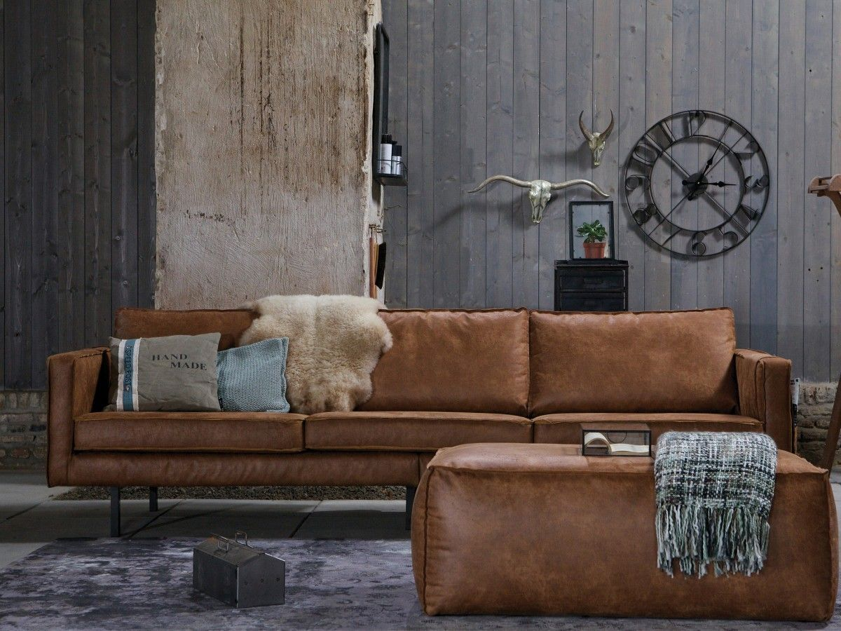 industrial style sofa franklin leather reclining west 3 seater design pinterest