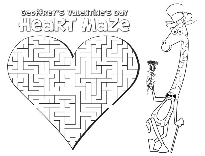 Printable Valentine's Day Activity Sheets for kids