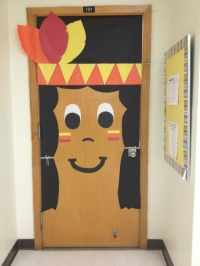 Indian Thanksgiving themed classroom door. | Classroom ...