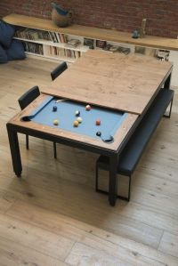 Pool table under the dinner table. Great idea   Future ...