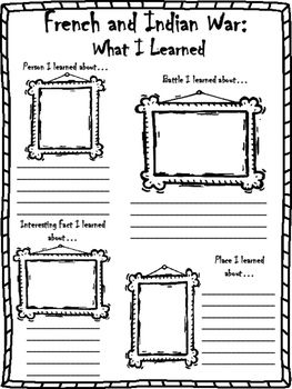 All Worksheets » French And Indian War For Kids Worksheets