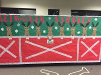 Reindeer stable office cubicle Christmas decor  | Pinteres
