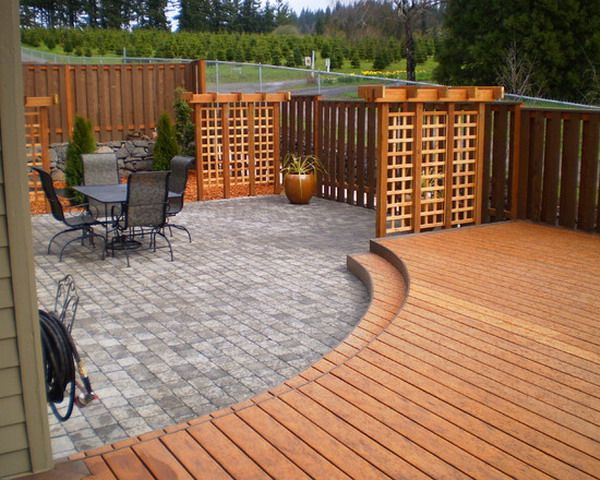 Deck And Patio Combinations Combined Patio Deck And Flagstone