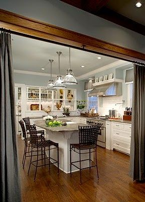 Curtain Divider For The Kitchen Great For Having Optional Divisionprivacy In An Open Floor