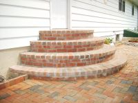 Half-round steps (Rounded Patio Step) | Brick Paver ...