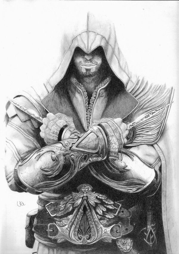 Cool Assassin's Creed Drawings