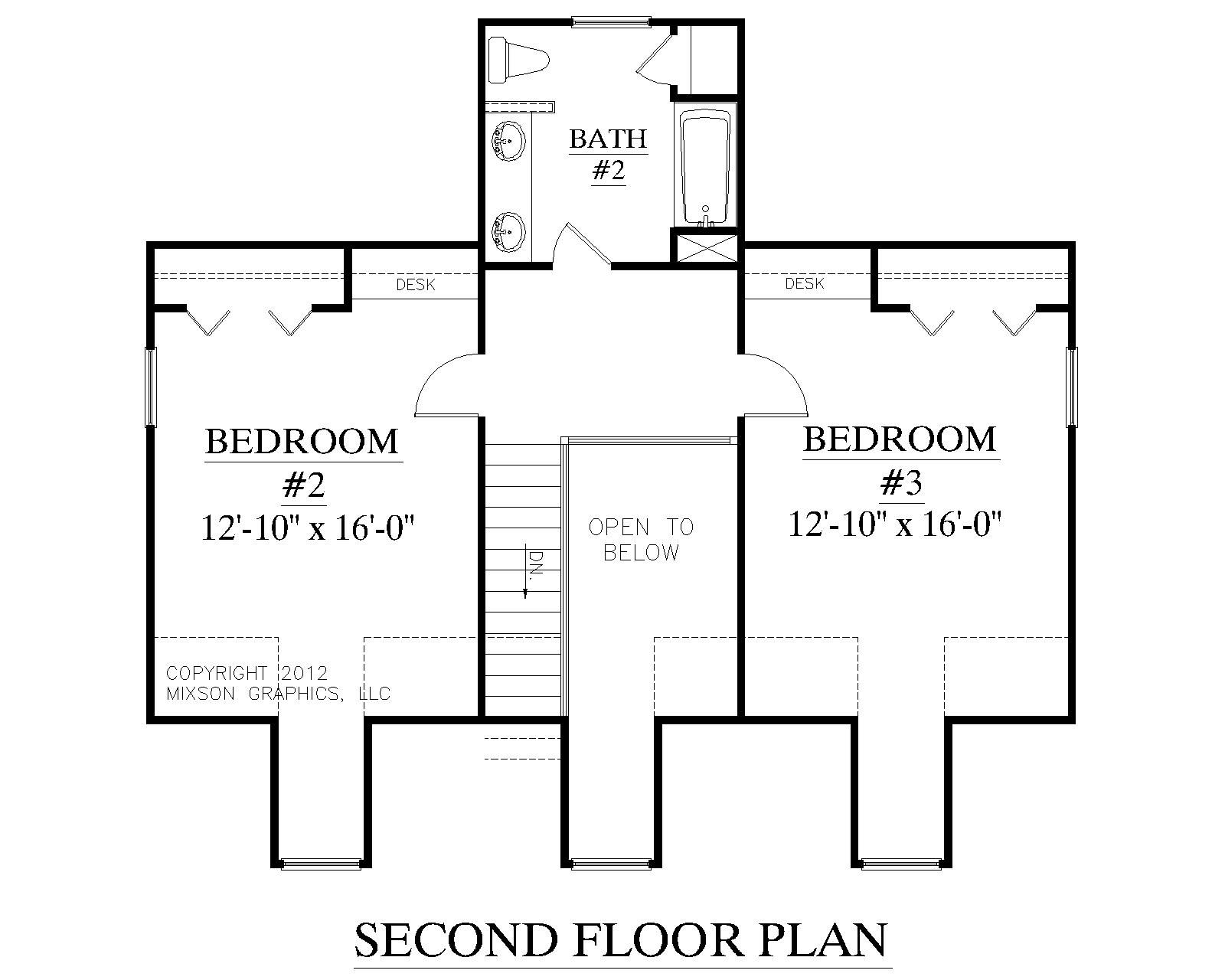 House Plan Ashland Second Floor Plan