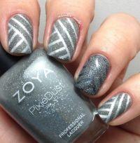 35 GRAY NAIL ART DESIGNS | Silver nail polish, Silver ...