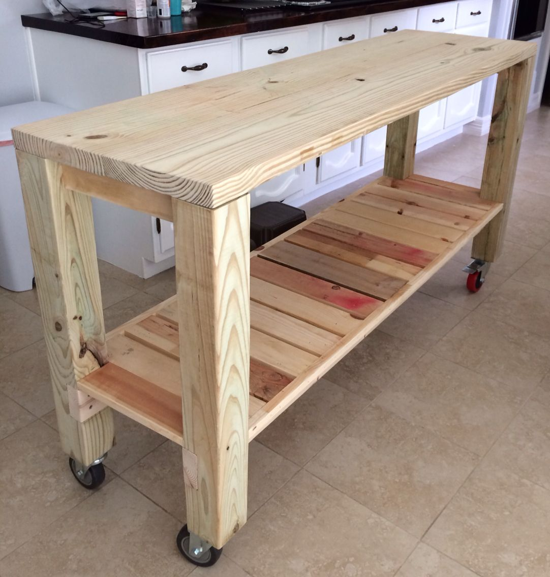DIY Moveable Kitchen Island  country decor  Pinterest
