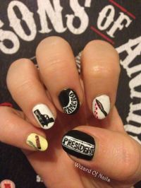 Sons of Anarchy nails | Wizard of Nails | Pinterest ...