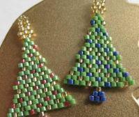 Basic Peyote Stitch Beaded Christmas Tree Earrings ...
