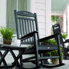 Outdoor Porch Chairs Folding Aluminum Lawn Great Black Oak Woods Rocking Rustic Models With