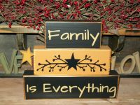 Primitive Sign Blocks--Country Decor--Visit BusyMamasPlace ...