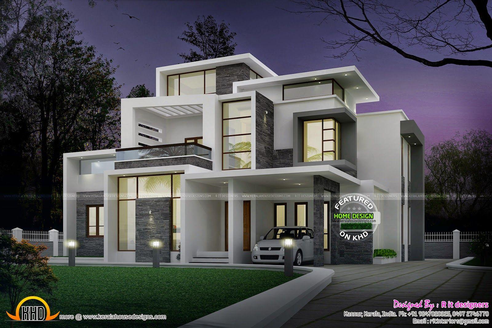 Grand Contemporary Home Design Kerala Home Design And Floor