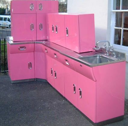 Vintage English Rose Metal Kitchen Cabinets From Spitfires To Luxe Salvage And Back Again