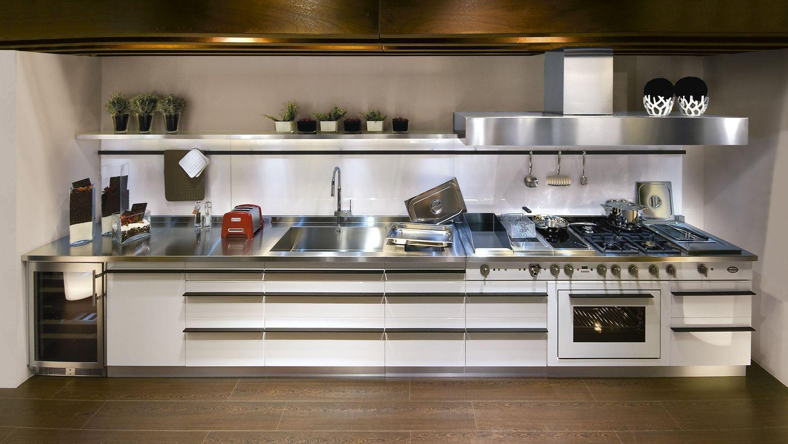 stainless steel kitchen restaurant door contemporary profile handles