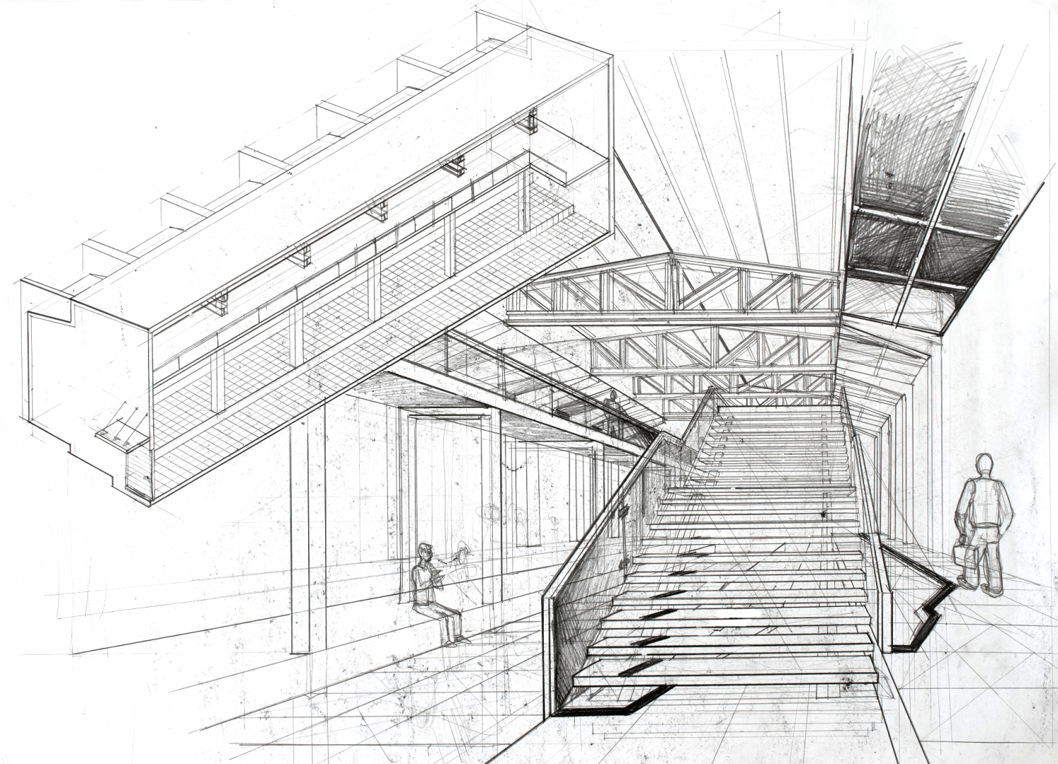 Interior Perspective Architectural Drawing
