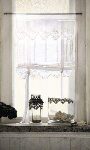 Romantische Gardinen im LandhausStil Lannion 2erSet