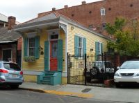 NOLA shotgun style house, French quarter