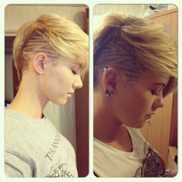 Both Sides Of A One Side Shave Pixie Google Search Primp