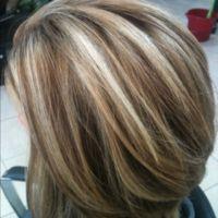 100% white hair transformed into a multi tonal blonde ...