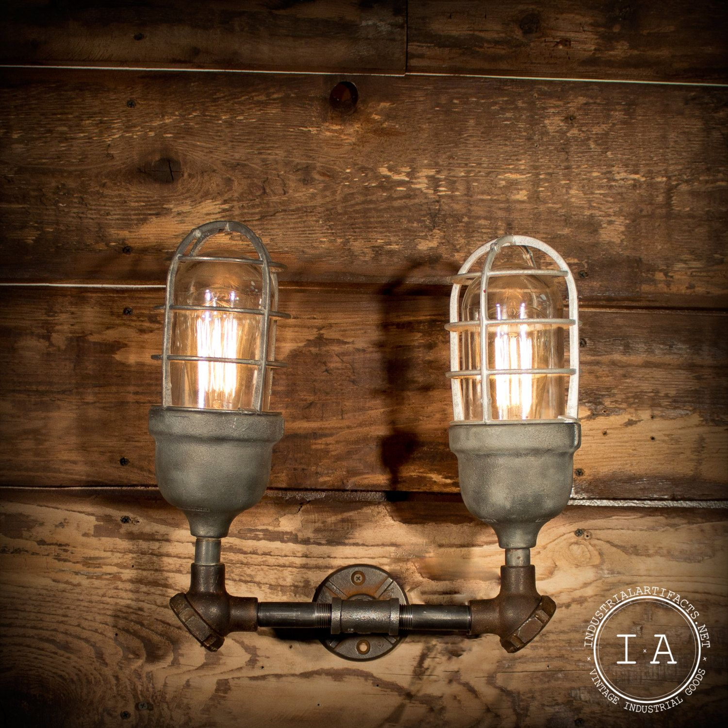 Vintage Industrial Double Explosion Proof Wall Sconce