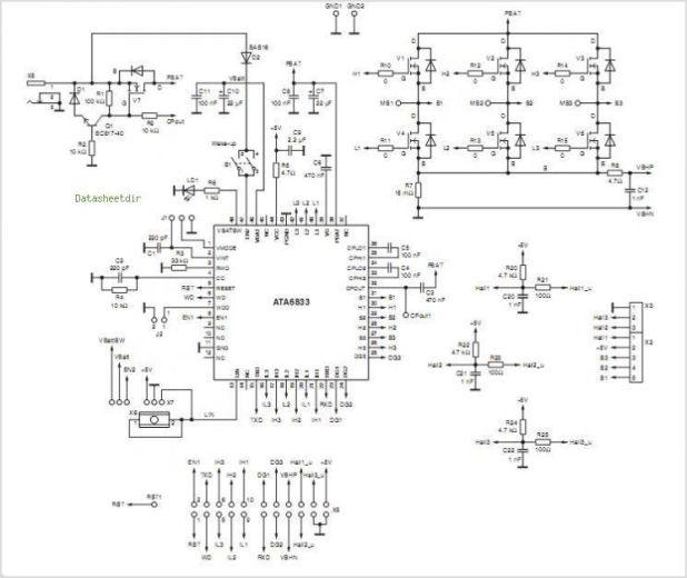 Brushless dc motor drive circuit for Bldc motor driver circuit