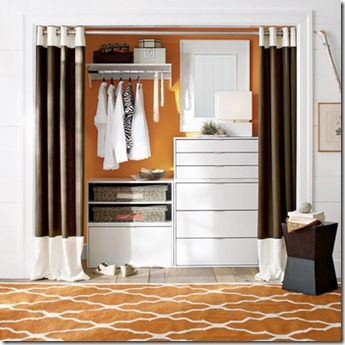 I Really Love The Idea Of Curtains As Doors For Your Closet! Think