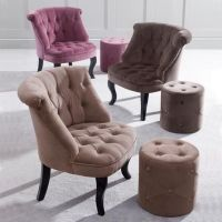 Mauve Bardot Velvet Occasional Chair | Dunelm | Hair salon ...