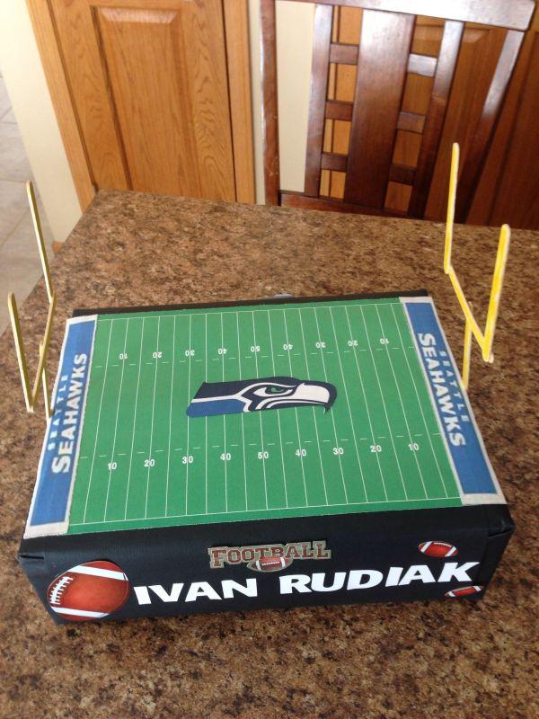 Football Valentine Boxes Ideas