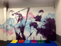 New crossfit / gym mural for WOD House