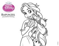 Dibujo de Enredados - Rapunzel y Pascal para colorear ...