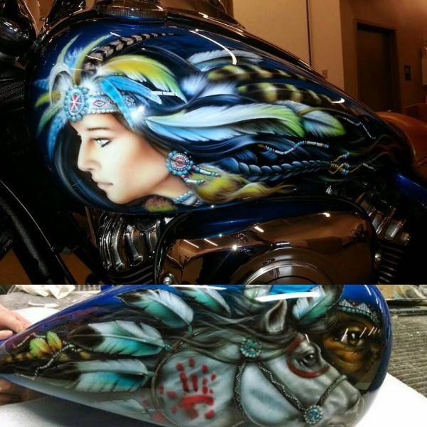 Indian Motorcycle Custom Paint