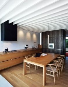 American oak is used for the floors and as  veneer on all joinery layan design group hawthorn house also residence by an aesthetic of elegant rh pinterest