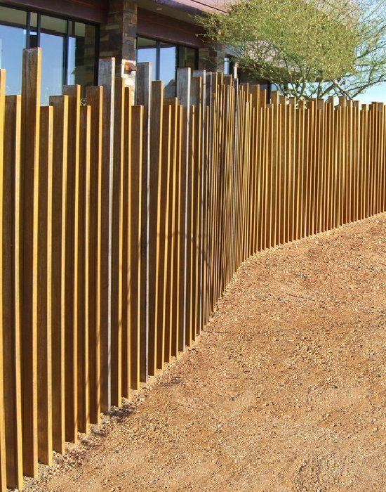 Metal Fencing Ideas Yard Fence Ideas Cool Corten Steel
